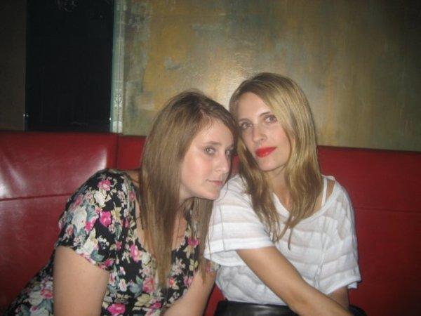 with Harley Viera Newton's bff/fellow dj Cassie Coane