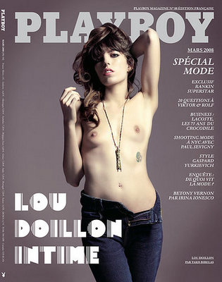 on the cover of French Playboy